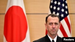 Tư liệu- Đô đốc John Richardson, Tư Lệnh Hải quân Mỹ. Ảnh chụp ở Tokyo, ngày18/12/2017.