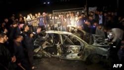 Автомобиль с боевиками ХАМАСа, уничтоженный ВВС Израиля
