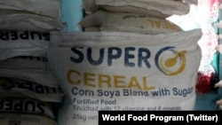 FILE - World Food Program's fortified blended food, Super Cereal.