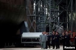 Візит лідера Північної Кореї на завод підводних човнів