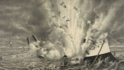 The destruction of the U.S. battleship Maine in Havana Harbor in 1898