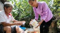 Bệnh nhân bệnh giun chỉ bạch huyết ở Việt Nam (RTI International/Nguyen Minh Duc)