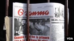 El diario Granma funge como vocero del gobierno cubano y traza además las pautas editoriales para toda la prensa en Cuba.
