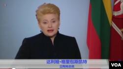 立陶宛總統達利婭格里包斯凱特。