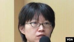 台湾人权促进会秘书长 蔡季勋(美国之音 张永泰拍摄)