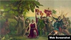 Kolumb Amerikanı kəşf edir