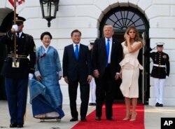 استقبال رسمی کاخ سفید از رئیس جمهوری کره جنوبی