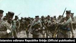 Retuširana fotografija boraca iz Prvog svetskog rata iz arhive Ministarstva odbrane Srbije