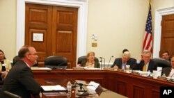 国防部副助理部长舒尔特在国会作证