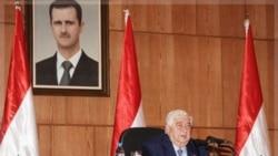 ولید معلم وزیر امور خارجه سوریه در مصاحبه مطبوعاتی روز دوشنبه ۲۸ آذرماه ۱۳۹۰