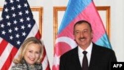 Azərbaycan prezidenti Amerika dövlət katibi ilə görüşüb