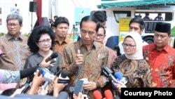 Presiden Joko Widodo mengutuk keras penembakan yang terjadi di Las Vegas, Amerika Serikat. Jokowi di Cibubur Jakarta, Selasa, 3 Oktober 2017. (Foto courtesy: Biro Pers kepresidenan RI)