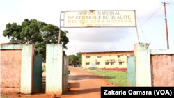 L'office national de contrôle de qualité à Conakry, Guinée, 6 juin 2017. (VOA/ Zakaria Camara)