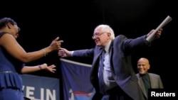 Bernie Sanders na campanha