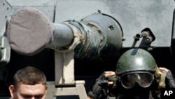 국경으로 이동중인 베네수엘라 군