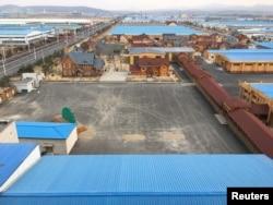 A view of Hunchun Border Economic Cooperation Zone in Hunchun, Jilin province, China, March 28, 2017.