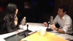 مصاحبه رادیو صدای امریکا با آریانا سعید در استیدیوی واشنگتن
