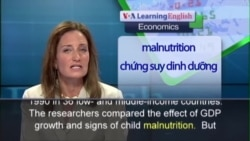 Anh ngữ đặc biệt: Child Nutrition Health (VOA-Econ)