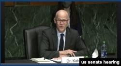 콜린 칼 미 국방부 정책 차관 지명자가 4일 상원군사위 인준청문회에 출석했다.