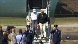 Трамп відвідує штати Флорида та Джорджія, аби оцінити шкоду, нанесену ураганом. Відео