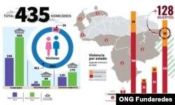 Infografía general del reporte Curva de la Violencia en estados fronterizos de Venezuela   Fuente: ONG Fundaredes