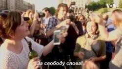 """За свободу слова: як на Майдані святкували """"воскресіння"""" та згадували тих, хто вже не з нами. Відео"""