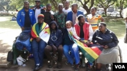 Some Members of Occupy Movement Of Zimbabwe at Africa Unity Square