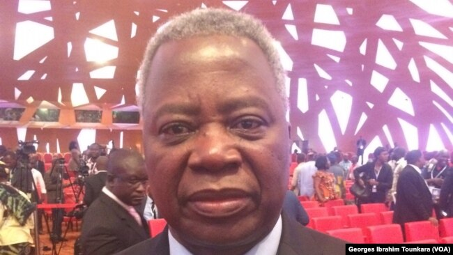 Tertius Zongo, ancien Premier ministre du Burkina Faso, à Abidjan, 3 mars 2017. (VOA/Georges Ibrahim Tounkara)
