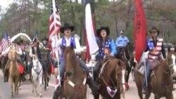 休斯敦的牛仔节和牲口展