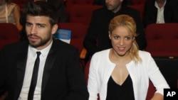 Shakira junto a Gerard Piqué.