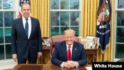 Donald Trump et Sergei Lavrov, à la Maison Blanche, le 10 décembre 2019.