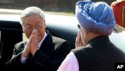 Tổng bí thư Nguyễn Phú Trọng trong chuyến thăm Ấn Độ năm 2013.