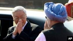 Tổng bí thư Việt Nam Nguyễn Phú Trọng tại chuyến thăm Ấn Độ 19-22/11/2013.