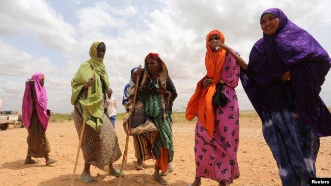 Des Somaliennes près de Baledweyne, au centre de la Somalie, le 22 juin 2016.
