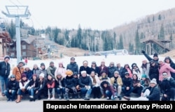 FILE: Filipino teachers from Arizona and New Mexico last Thanksgiving break at Purgatory Resort, Colorado.