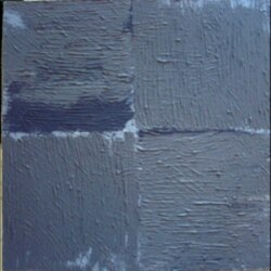 "Busser Howell's painting ""Blue Square"""