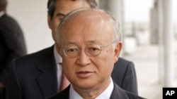 ທ່ານ Yukio Amano ຫົວໜ້າອົງການນີວເຄລຍສະຫະປະຊາຊາດ. ວັນທີ22 ພຶດສະພາ 2012.