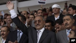 Le président Saleh et ses partisans