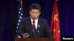 Chủ tịch Trung Quốc Tập Cận Bình phát biểu hôm thứ ba 22/9/2015 tại Seattle.