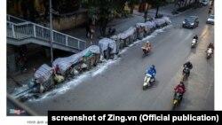 Rác thải ở Hà Nội chờ được thu dọn (Ảnh tư liệu này 13/1/2019)