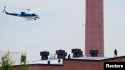直升飞机在枪击现场