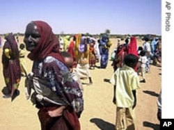 Displaced civilians in Sudan's western Darfur region.