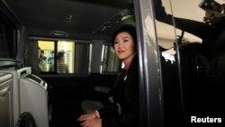 (资料照)泰国被罢免的前总理英拉
