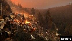 智利港口城市瓦爾帕萊索大火已經導致至少12人喪生,至少2千所房屋被燒毀。(3.13.2014)