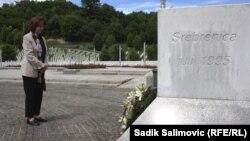Američka ambasadorica u BiH Maureen Cormack u Memorijalnom centru Potorčari, Srebrenica, 16. maj 2018.