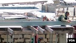 러시아 블라디보스토크 건설 현장의 북한 근로자들. (본 사진은 기사 내용과 무관합니다.)