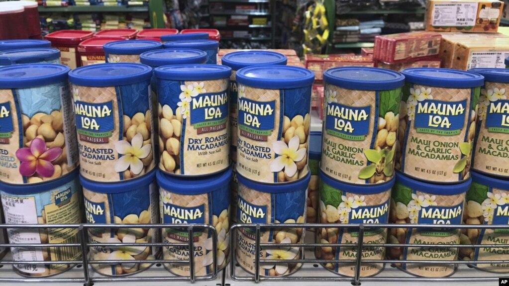中國超市裡的美國產品