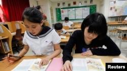 """""""脫北者""""的孩子在南韓一所中學上課 (資料照片)"""
