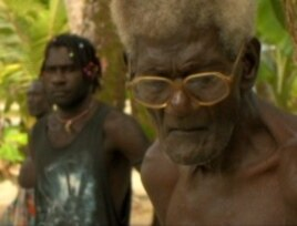 Elders among the Carteret, pictured here at a relocation meeting on Piul Island, hold memories of happier days but now must seek shelter elsewhere.
