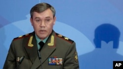 FILE -Russia's armed forces chief, General Valery Gerasimov in Moscow. General Gerasimov is due to visit Turkey this week in the latest step in bilateral regional coordination efforts on Syria.